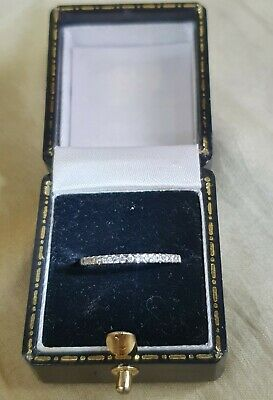 £169.95 • Buy Antique,Solid Platinum Authentic NATURAL Diamond Set Eternity/stacker Ring. K