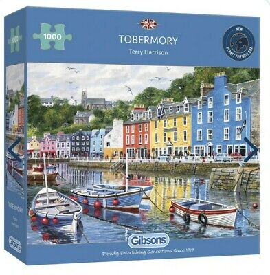 £5 • Buy Gibson Jigsaw Puzzle 1000 Piece Tobermory Terry Harrison