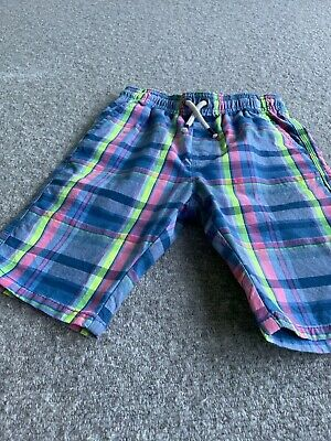 £1.30 • Buy Next Checked Boys Shorts Age 9. Bright Colours Including Neon Yellow.