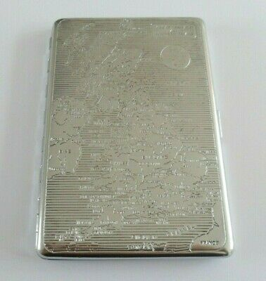 £1.67 • Buy Vintage Cigarette Case Emu Brand With Map Of Great Britain And Northern Ireland.