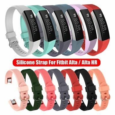 AU2.96 • Buy Wristbands Soft Strap For Fitbit Alta / Alta HR Bracelet Silicone Watch Band
