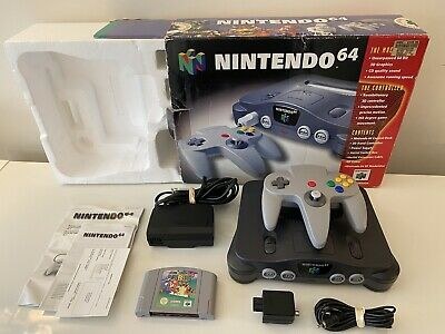AU257.50 • Buy Nintendo 64 N64 Console Boxed Super Mario 64 PAL CLEANED AND TESTED VGC