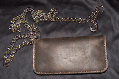 £35 • Buy Leather Biker Wallet With Chain