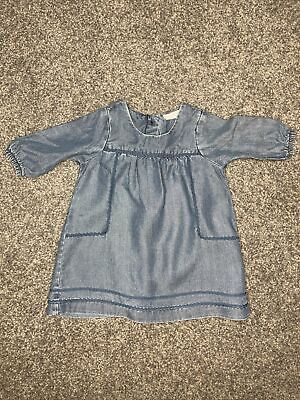 £0.99 • Buy Next Baby Girl Denim Button Up Dresd Age Up To 1 Month