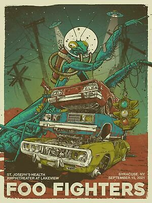 $249.99 • Buy 2021 Foo Fighters 9/17 Screen Print Concert Poster Syracuse NY S/N Artist Signed