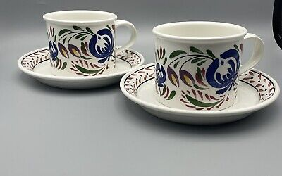 £30 • Buy Portmeirion Angharad Menna Gorgeous Welsh Dresser TWO Cups And Saucers Brand New