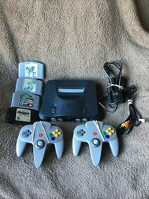 AU185.06 • Buy 🔥🎮Nintendo 64 N64  Console Lot W/  2 Controllers  4games With Expansion 🔥🎮