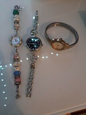 £30.99 • Buy Charm Bracelet Watch + 2 Other Watches