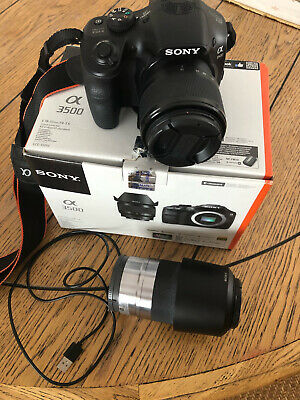 AU250 • Buy Sony A3500 E-mount 18-50mm F4-5.6 DSLR Camera With Extra Zoom Lens