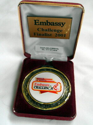£4.99 • Buy A Gold Coloured 2001 Embassy Challenge Finalist Fishing Medal