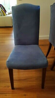 AU143 • Buy Dining Chairs - Dare Gallery - Genuine Suede - French Provincial Style X 8