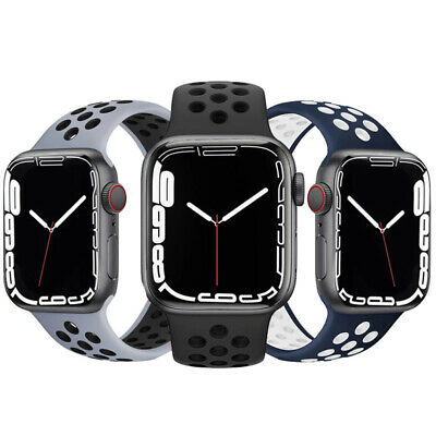 AU4.99 • Buy For 41/45mm Apple Watch Series 7 6 5 4 3 21 SE Silicone Band Sport IWatch Strap