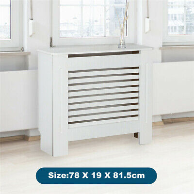 £31.99 • Buy Horizontal Radiator Cover White Painted Traditional Cabinet MDF Wood Furniture