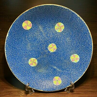 £3 • Buy Qianlong Chinese Antique Porcelain Blue Glazed Plate With Flowers 18th Century