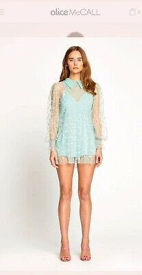 AU145 • Buy Alice McCall Dusty Sparkle Pepermint Playsuit 6 $395