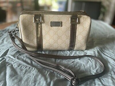 AU250 • Buy Gucci GG Supreme Leather Small Joy Boston Hand Bag - Very Good& Authentic