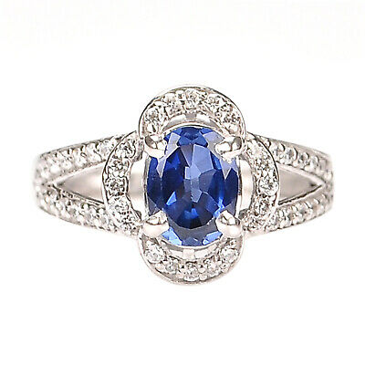 £0.01 • Buy Oval Cut 3.20Ct 100% Natural Royal Blue Tanzanite Engagement Ring In 925 Silver