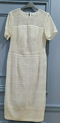 AU17.99 • Buy White Lace Asos Dress, Size 14, Perfect For Summer! Fully Lined, Immaculate Cond