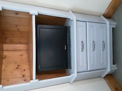 £150 • Buy Large Corner Solid Unit Pine And Grey One Of A Kind Very Good Condition