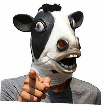 £23.63 • Buy Animal Mask Cow Head Funny Masquerade For Adults Dressing Up Cow Masks Black