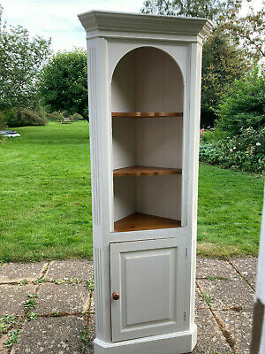 £50 • Buy Tall Shabby Chic Shaker Style Painted Solid Pine Corner Cabinet/Shelf Unit