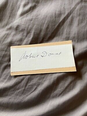 £2.36 • Buy Robert Donat 2.5x5.5 Inch Signed Page Autograph Card