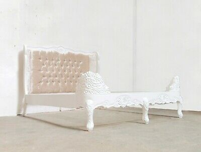 £739 • Buy Rococo Kingsize Chateau Bed White Hand Made Brand New Shabby Chic