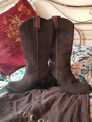 £75 • Buy Gucci Genuine Suede Knee High Boots Size 40C.