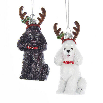 £16.95 • Buy Glass Poodle Christmas Tree Decoration Gift/Present Dog - 2 Designs