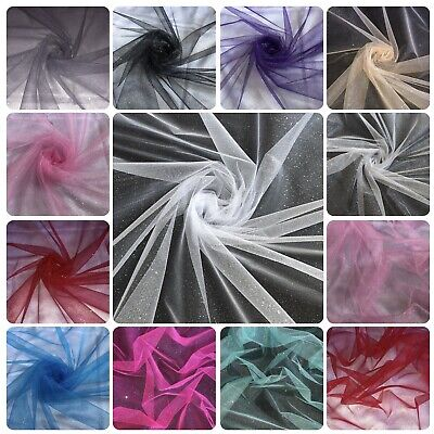 """£1.25 • Buy Sparkly Glitter Tulle Fabric 60"""" Wide Net Tutu Fancy Dress Decorations Costume"""