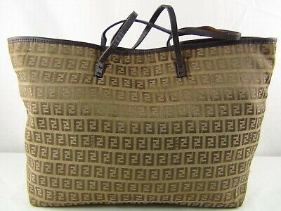 £68.89 • Buy US Seller Authentic FENDI ZUCCA LIGHT WEIGHT TOTE BAG PURSE Usable