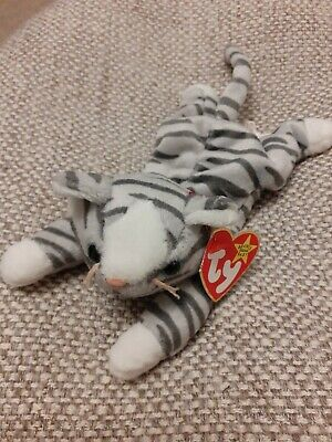£1.20 • Buy Ty Beanie Baby Prance - The Grey And White Cat _ Retired With Tags