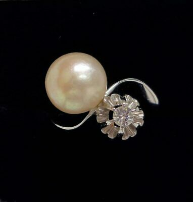 £495 • Buy Fine Vintage French Pearl And Diamond Toi Et Moi Ring White Gold - Size J 1/2