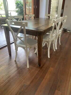 AU300 • Buy Dining Table And Chairs 6 Used