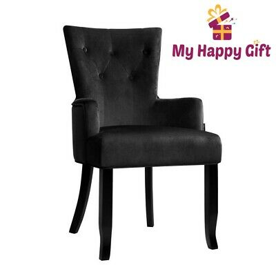 AU171.35 • Buy Artiss Dining Chairs French Provincial Chair Velvet Fabric Timber Retro Black