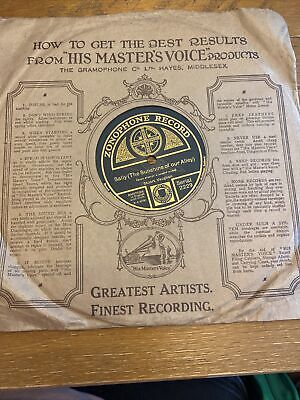 £0.99 • Buy Zonophone Gramophone Record - Tell Me That Story Of Old Missouri/Sally
