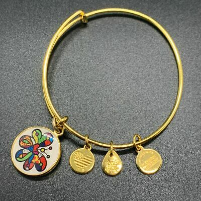 AU26.71 • Buy Alex And Ani Britto Art Butterfly Charm Bracelet Gold 2017