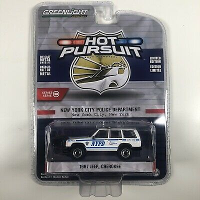 £8.99 • Buy 1/64 Greenlight 1997 Jeep Cherokee NYPD New York NYC Police Hot Pursuit 38