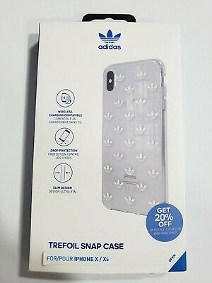 AU11.92 • Buy Adidas Trefoil Snap Case For IPhone X IPhone XS (5.8 ) - Clear With Design