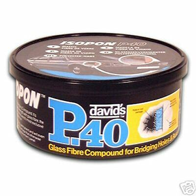 Davids Isopon P40 Fibre Glass 250ml Car Body Repair Etc • 12.05£