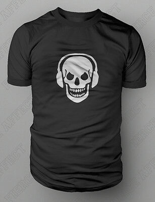 Skull And Phones DJ Clubbing Headphones T-shirt S-XXL FREE UK POST Death Zombie • 9£