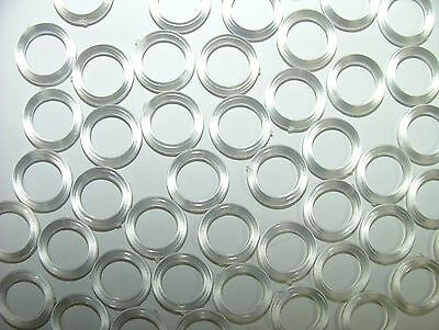 £2.99 • Buy Clear Plastic 13mm Roman Blind Accessories Curtain Rings ANY AMOUNT