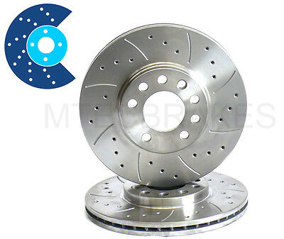 £76.99 • Buy Ford Sierra RS Cosworth 2.0 4x4 Rear MTEC Drilled Grooved Brake Discs NOT 2WD