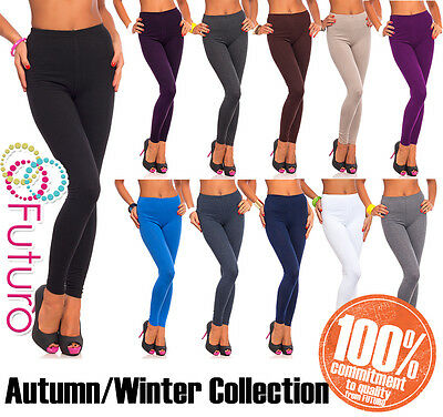 £5.75 • Buy Womens Thick Warm Cotton Full Length Leggings UK Size 6-22 & All Colours