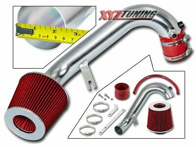 $49.99 • Buy 2.5  RED Short Ram Air Intake + Filter For 01-05 Civic DX/LX/EX/HX/GX 1.7L L4