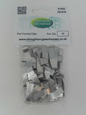 50 Part Formed Greenhouse Overlap Lap Glazing Clips Genuine Elite Greenhouses • 5.95£
