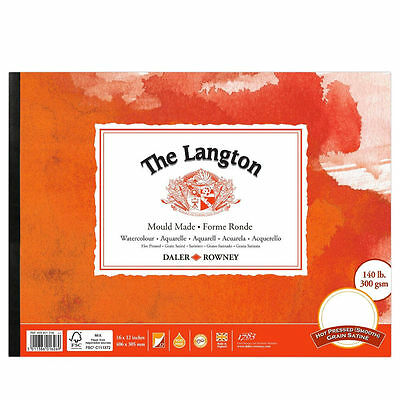 Daler Rowney Langton Watercolour Pad - HP - Smooth Hot Pressed - 14x10 • 18.99£