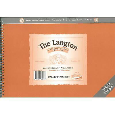 Daler Rowney Langton Watercolour Spiral Pad - 200lb / 425gsm - NOT - 12  X 9  • 17.99£