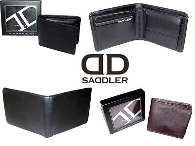 £24 • Buy Saddler Leather Mens Wallet Coin Compartment Gift Boxed