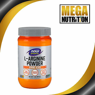 NOW Foods L-Arginine Powder 454g | Muscle Support Amino Acids Nitric Oxide Boost • 25.95£